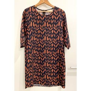 Everly Abstract Pattern Dress